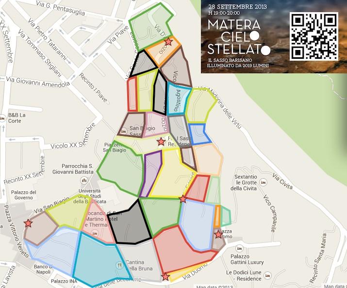 mappa matera cielo stellato basilicata magazine
