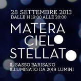 Matera cielo stellato, 2019 lumini nel Sasso Barisano