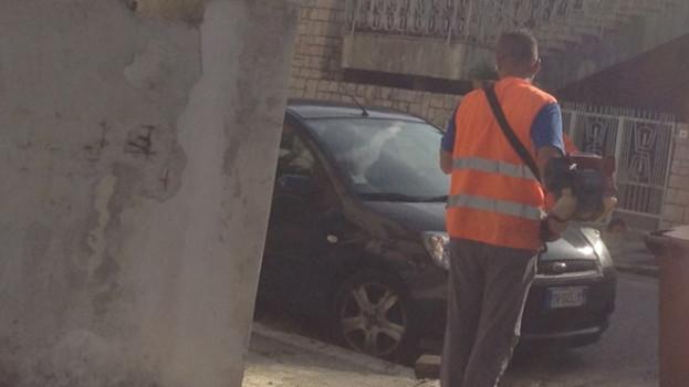 Auto danneggiate dallo sfalcio delle erbe