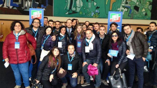 """Una delegazione di giovani lucani alla convention """"Noi, la Forza dell'Italia"""""""