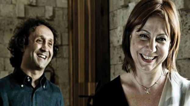 Rita Marcotulli e Luciano Biondini venerdì sera sullo stage del Ueffilo di Gioia del colle