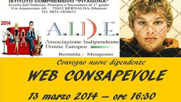 """""""Web consapevole"""" è il convegno organizzato da AIDE Bernalda per la sensibilizzazione sulla rete"""