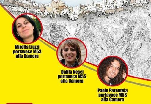 """""""VinciamoNoi"""", il tour nazionale del Movimento Cinque Stelle fa tappa a Pisticci"""