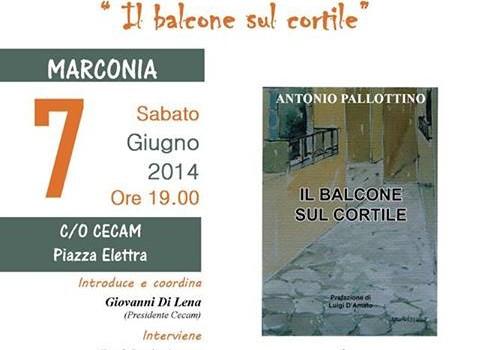 Il CECAM di Marconia ospita Antonio Pallottino e le sue poesie