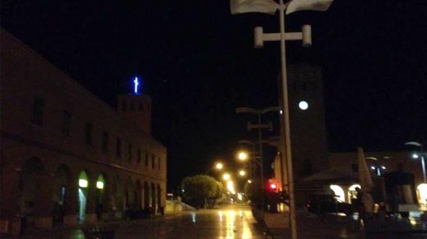 Marconia, Piazza Elettra a lume di candela