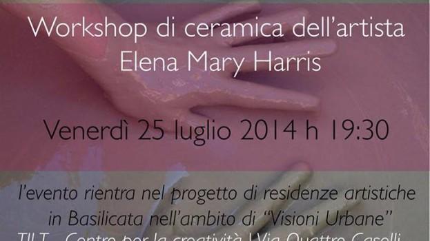 """""""Tracce maestre: Cinema e Argilla"""", Elena Mary Harris al Centro Tilt di Marconia"""