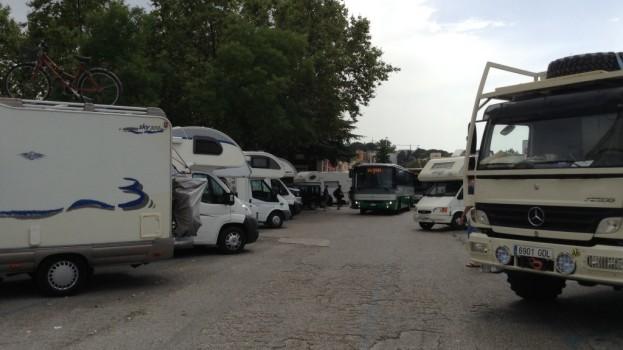 La stazione centrale di Matera ridotta ad area camper