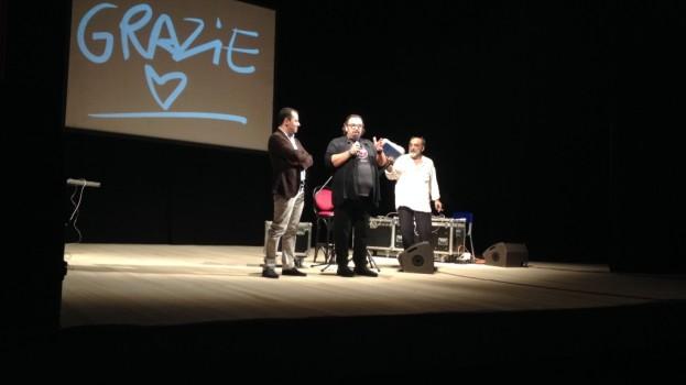 Grande successo di Haber al teatro Mercadante di Altamura con Bukowski