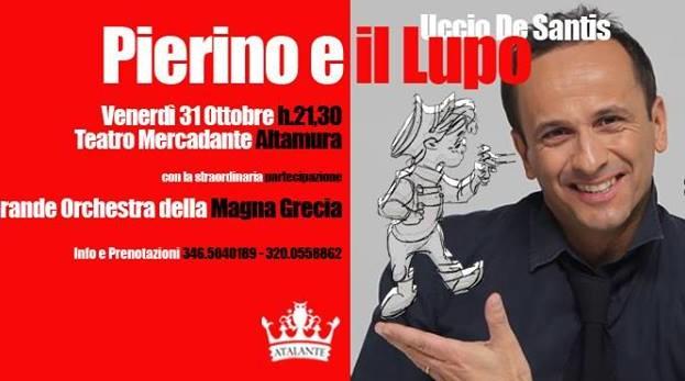 Pierino e il Lupo con Uccio de Santis al teatro Mercadante