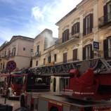 Incendio in via del Corso a Matera.