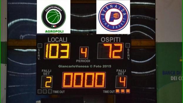 Touchdown Bernalda si blocca nel Cilento: troppo forte Agropoli