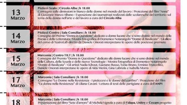 Donne, diritti, partecipazione: una settimana di eventi a Pisticci