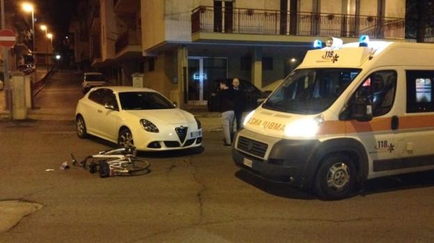 Ciclista coinvolto in un in un incidente a Matera