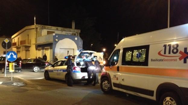 Incidente in via Dante. Due auto coinvolte e diversi feriti