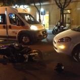 Scontro tra scooter e auto in via Annunziatela a Matera