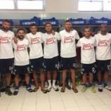 I calciatori del Matera contro la leucemia.