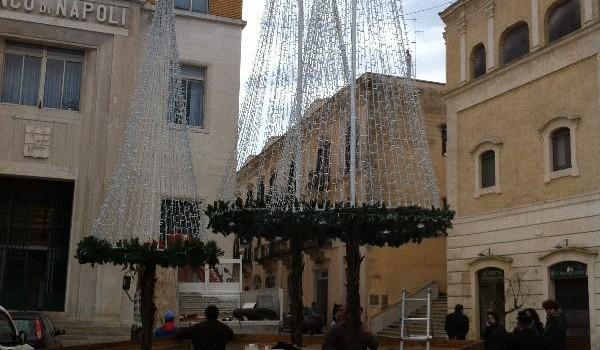 Albero di Natale da record in piazza Vittorio Veneto a Matera. Sarà alto 20 metri.