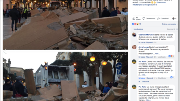 Matera 2019, insorgono gli ambientalisti: evento da 200mila euro, ma il cartone non si ricicla