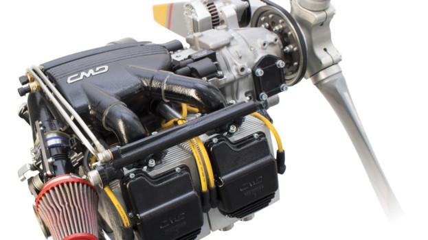Il motore della lucana CMD in mostra alla Fiera tedesca dell'aviazione mondiale di Friedrichshafen