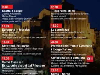 Due giorni di eventi letterari e degustativi con i borghi del Premio Letterario il Borgo Italiano 2018